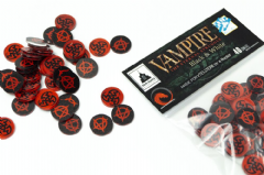 Set de 40 tokens rojos y negros